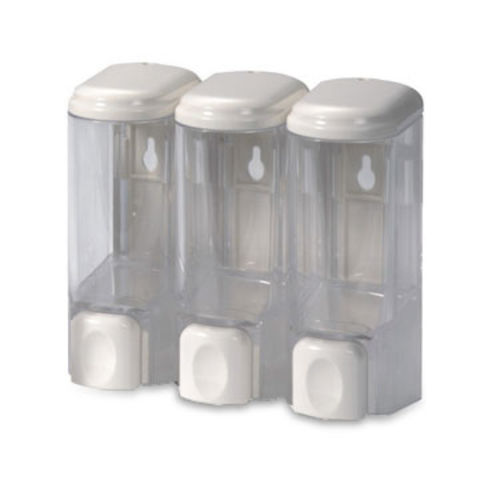 Taiwan Wall-mounted Soap Dispenser with 200mL x 3 Containers, Measures 14.5 x 15.50 x 8.0cm