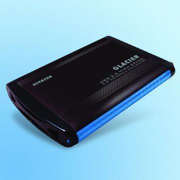 Matte Black USB 2.0 Aluminum Enclosure, Consumes 5V