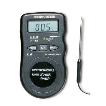 Mini K-type Thermocouple Industrial Thermometer with 2,000-count LCD Display