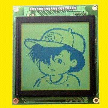 China STN Graphic LCD Module with 128 x 128 Dots and 1/12 Bias