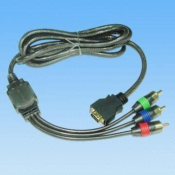 D-terminal to Component Cable Assembly with Golden Plug