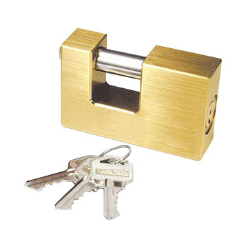 High Security Brass Padlock with Two Normal Keys