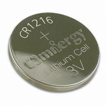 Hong Kong SAR 3V Lithium/Manganese Dioxide Button-cell Battery with 0.1mA Standard Current
