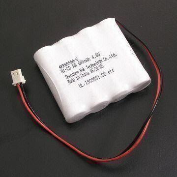 China Ni-Cd Battery Pack with Voltage of 4.8V