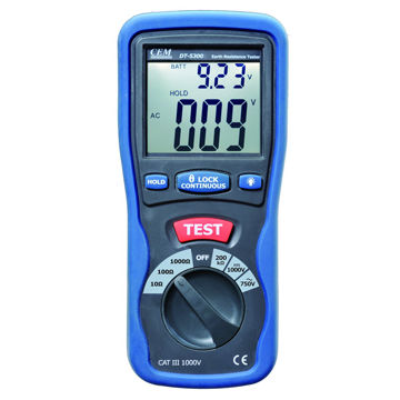 Ground Resistance Tester with Low Battery Indication