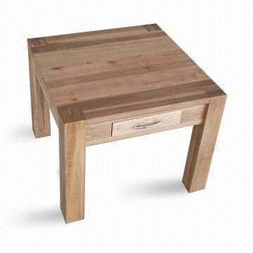 Coffee table made of wood measuring 60 x 60 x 48cm for Coffee table 60 x 60