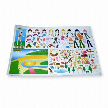 China Dress-Up Doll Stickers, Available in Various Motifs
