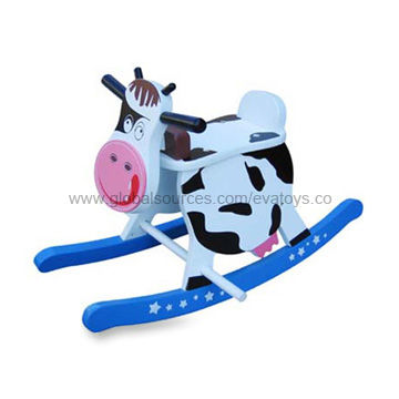 Juguetes La Bebé Madera Del De Precioso Modelo Vaca Ok8n0PXw