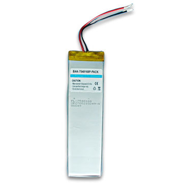 China 3.7V Li-polymer Rechargeable Battery Pack with 6,000mAh Capacity and Long Lasting Power