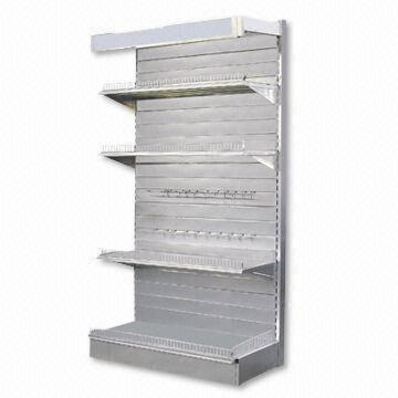Display Rack with Slat Wall Panel and Light Box, Measuring 1,000 x 400 x 1,800mm