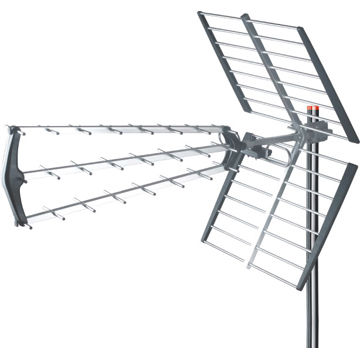 Outdoor TV Antenna with 9.5 to 15dB Antenna Gain and 32° Horizontal Beam Width