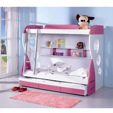 Double Deck Bed Design : Multi-function Bed in Double Deck Design, Suitable for Children and ...