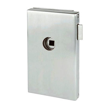 Taiwan Glass door lock, passage function, square design