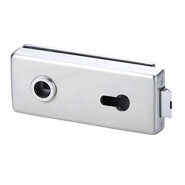 Taiwan Glass door lock with Europe cylinder locking, suitable for glass door