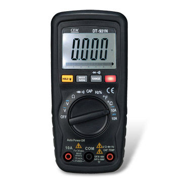 China 6000 counts Compact Digital Multi-meter with Double Molded Plastic Housing