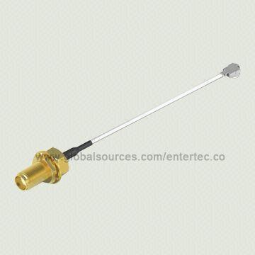 Taiwan 0.81mm Mini RF Coaxial Adapter Cable with SMA (F) S/T Bulkhead Jack Plug to U.FL (2.0H) Connector