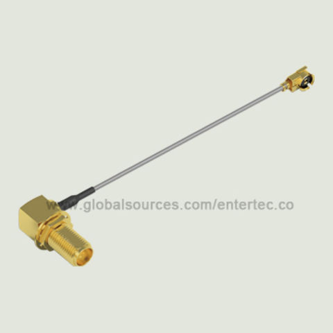 Taiwan 1.32mm Coaxial Cable Assembly with SMA(F) R/A Bulkhead Jack to IPEX