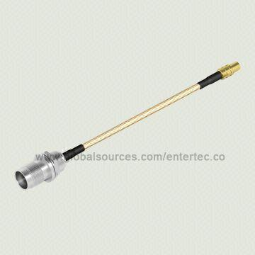 Taiwan RG-316 RF Connector Cable Assembly with MMCX F S/T Jack to TNC F S/T Bulkhead Jack Front Mount