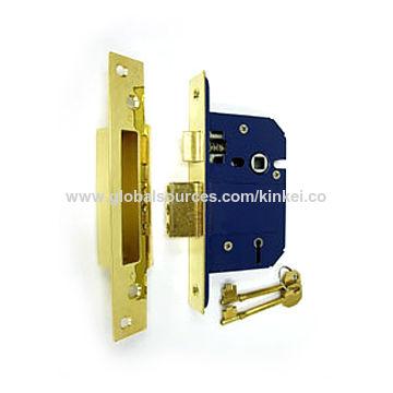 Hong Kong SAR Steel Mortise Lock, Nickel Plated