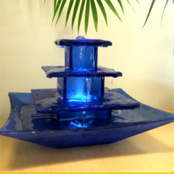 multi-tiers glass fengshui table top water fountain ...