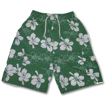 Children's Beach Shorts with Elastic Belt, Made of 100% Polyester