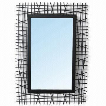 mirror with metal frame measures 284 x 484mm customized colors are welcome on global sources