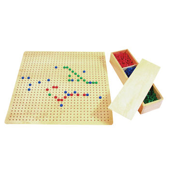 School Montessori Material with Pegs, Used Under Adult Supervision