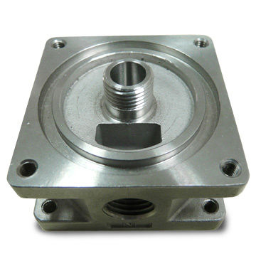 Taiwan 304 Stainless Steel 4-port Valve with Machined Finish, Suitable for Flow Control