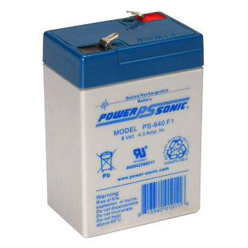United Kingdom Sealed Lead-acid Battery from Power-sonic, Measures 70 x 48 x 102mm
