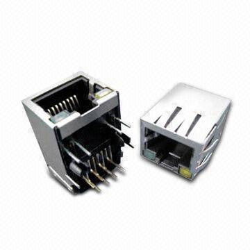 Taiwan Shielded Modular Jack, Designed for Network Interface Card Application