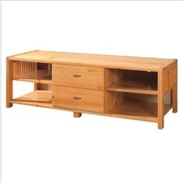 Solid Wood Pine wood TV Table & Cabinet Entertainment Units Living ...
