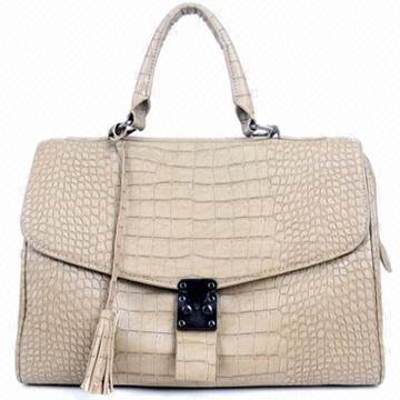 Synthetic Leather Crocodile Grain Handbag, Various Colors are Available