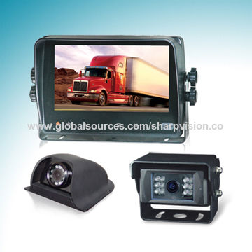 Car Backup Camera System with 7-inch Digital Touchscreen Monitor and Rear-view Cameras