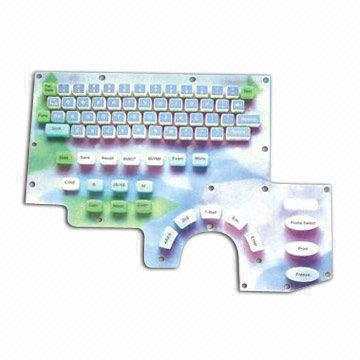 Custom-made Silicone Conductive Rubber Keyboard in Pads Design, Ideal for Computer RF/Bluetooth