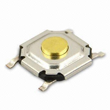Tact Switch with Tape/Reel Packing and 5.2 x 5.2mm SMT Type