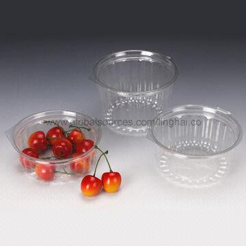 China Disposable Salad Bowls with Flat Lid, 8/12/16oz, Made of PET Material, Customized Design Welcomed