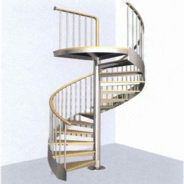 China Integral Staircase Spiral Stairs Stainless Steel Stair Handrail  Staircase Baluster Banister