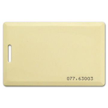 RFID Cards, ABS Clamshell in White with Wiegand 26 Code Printing, T5577 and 125KHz R/W