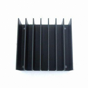 Aluminum Extrusion Heatsink for Vertical Board Mounting, Measures 61 x 58 x 24mm