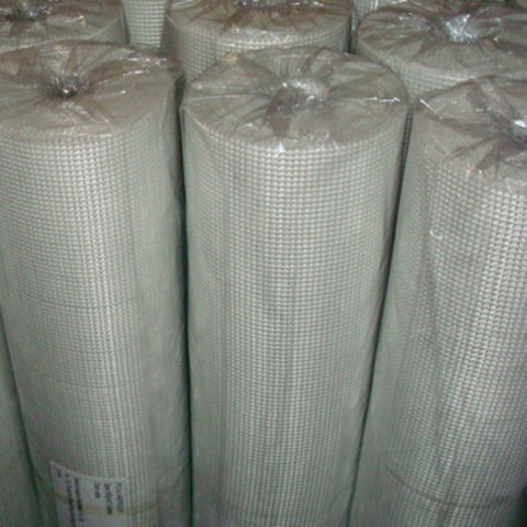Mesh, Made of Fiberglass, Polyester and Plastic, Available in White or Yellow, with Stable Structure