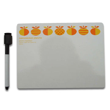 China Magnetic Notebook for Fridge, Available in Various Sizes, Made of Rubber Magnet and Paper