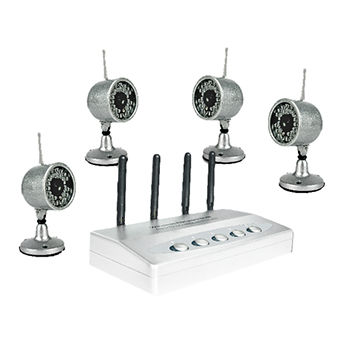 China 2.4GHz Wireless Hidden Camera Kit with 4-channel, 30 Pieces of LEDs, 100m Transmission Distance