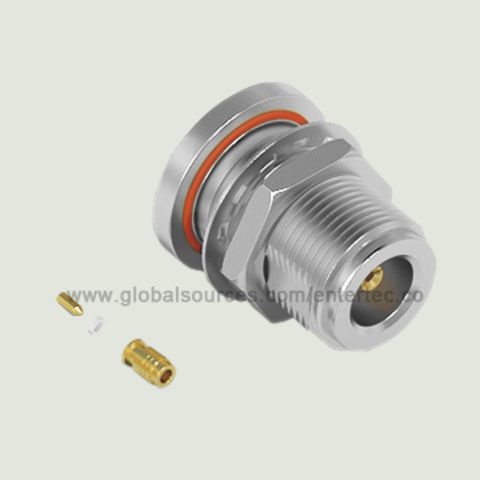 Taiwan Standards RF Connector with N Female S/T Bulkhead Jack and O-ring for 1.32/1.37mm Coaxial Cable