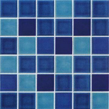 Ceramic mosaic tile porcelain tilefor swimming pool for Swimming pool tiles