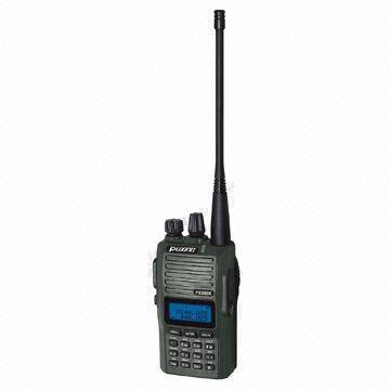 China Dual Band Two-way Radio with Voice Annunciation and Built-in FM Radio