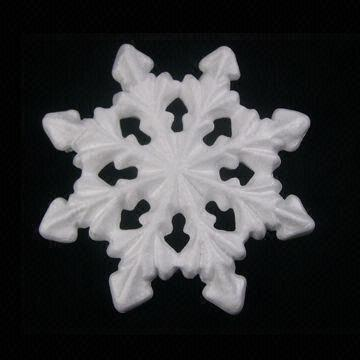 Polystyrene Snowflakes, Customized Designs are Accepted