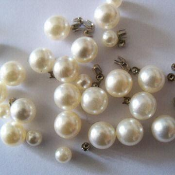 ABS Pearls, Suitable for Clothes, Bags and Jewellery, Used with Metal Claw