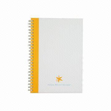 China Notebook with metal spiral binding