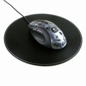 China Leather Mouse Pad, Different Colors are Available