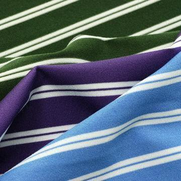 Feeder Stripe Jersey Fabric, Made of 92% Poly/8% Lycra, with UPF30+, Anti-bacterial and Wicking